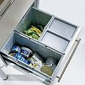 Matt Grey Drawer Waste Bin Set