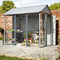 Indus 2.5X1.7 Apex Greenhouse Shed - Assembly Required