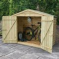 Outdoor Small Storage 6'10'' x 2'8'' Approx Overlap Pressure Treated Wood Timber Bike Store