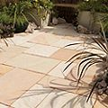 Fossil Buff Natural Sandstone Paving Slab (L)600 (W)300mm Pack of 85