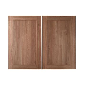 IT Kitchens Westleigh Walnut Effect Shaker Larder Door (W)600mm, Set of 2