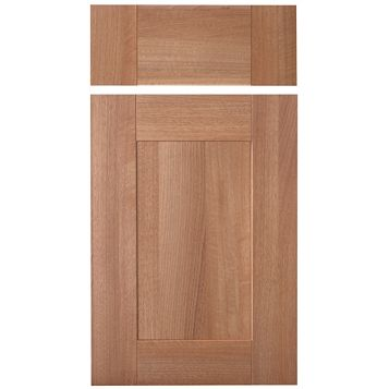 IT Kitchens Westleigh Walnut Effect Shaker Drawerline Door & Drawer Front (W)400mm, Set of 1 Door & 1 Drawer Pack