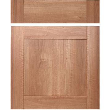 IT Kitchens Westleigh Walnut Effect Shaker Drawerline Door & Drawer Front (W)600mm, Set of 1 Door & 1 Drawer Pack