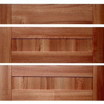 IT Kitchens Westleigh Walnut Effect Shaker Pan Drawer Front (W)800mm, Set of 3