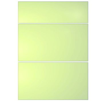 IT Kitchens Santini Gloss Cream Slab Drawer Front (W)500mm, Set of 3