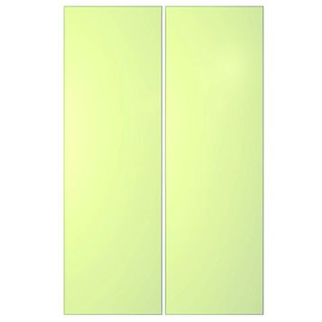 IT Kitchens Santini Gloss Cream Slab Larder Door (W)300mm, Set of 2