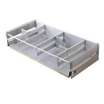 Cooke & Lewis Lay-On Stainless Steel Effect Drawer Box (W)1m
