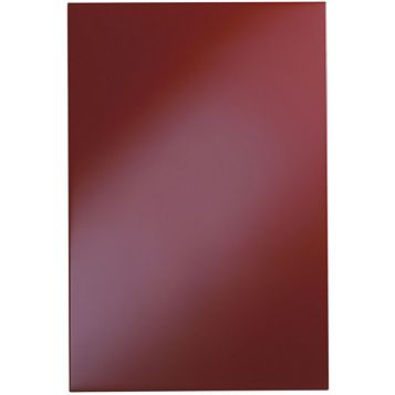 Cooke & Lewis Raffello High Gloss Red Slab Tall Standard Door (W)600mm