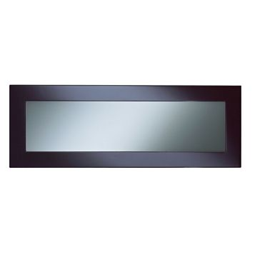 Cooke & Lewis Raffello High Gloss Aubergine Slab Glazed Bridging Door / Pan Drawer Front (W)1000mm