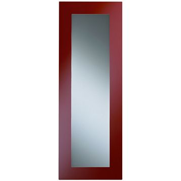 Cooke & Lewis Raffello High Gloss Red Slab Glazed Bridging Door / Pan Drawer Front (W)1000mm