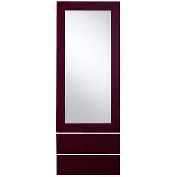 Cooke & Lewis Raffello High Gloss Aubergine Slab Tall Dresser Door & Drawer Front (W)500mm, Set of 3