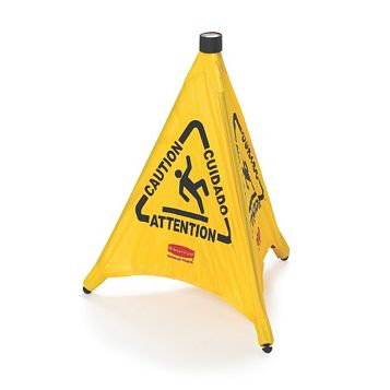 Rubbermaid Plastic Pop-Up Safety Cone (H)600mm (W)208mm