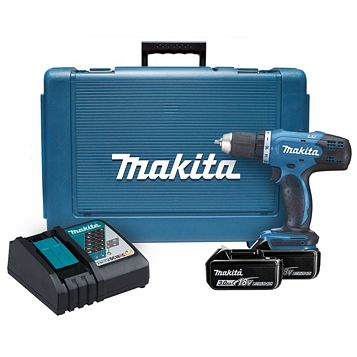 Makita 18V Li-Ion Drill Driver 2 Batteries, DDF453RFE