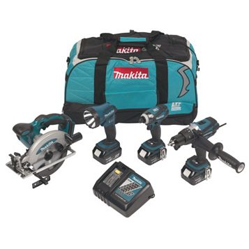 Makita LXT Cordless 18V 4Ah 4 Piece Power Tool Kit DLX4002M
