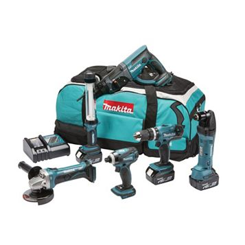 Makita Cordless 18V 6 Piece 6 Piece Power Tool Kit DLX6021M