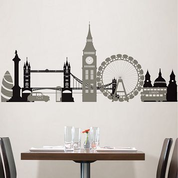 Wallpops London Calling Wall Sticker x (W)90cm