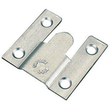 Zinc Plated Steel Flush Mounts (L)35mm, Pack of 10