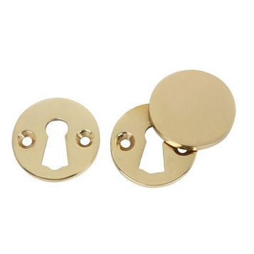 Polished Brass Escutcheon Set, Set of 1