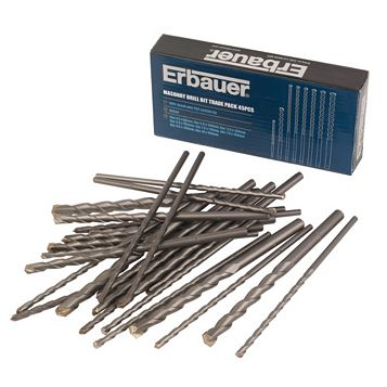 Erbauer Masonry Drill Bit Trade Pack (L)160mm, 45 Piece