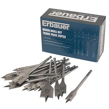 Erbauer Wood Drill Bit Trade (L)152mm, 20 Pack