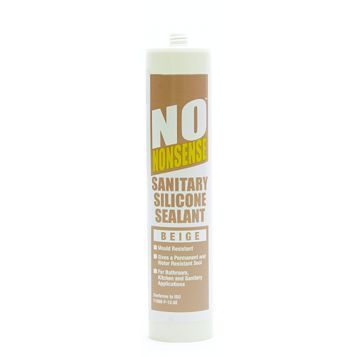 No Nonsense Provides An Anti-Fungal, Watertight Seal Beige Sanitary Silicone Of 1