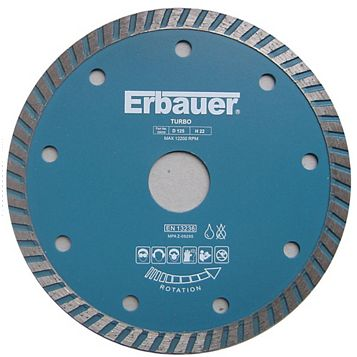 Erbauer (Dia)125mm Continuous Segments Turbo Blade