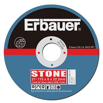 Erbauer (Dia)115mm Continuous Grinding Discs, Pack of 5