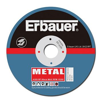 Erbauer (Dia)115mm Continuous Cutting Discs, Pack of 5