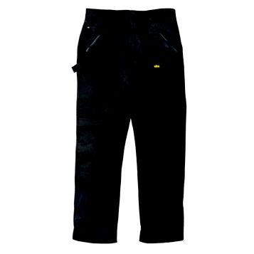 Site Beagle Black 65% Polyester, 35% Cotton Twill Trousers W38