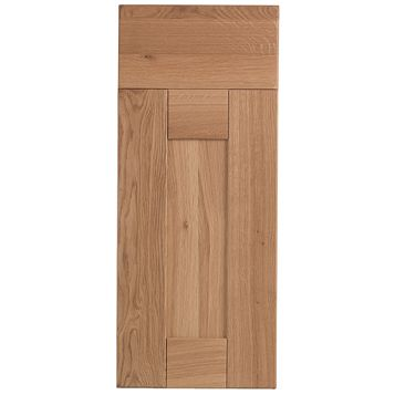 Cooke & Lewis Chesterton Solid Oak Drawer Line Door & Drawer Front (W)300mm, Set of 1 Door & 1 Drawer Pack