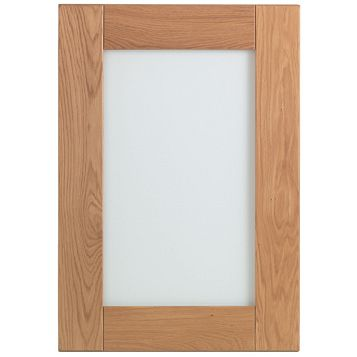 Cooke & Lewis Chesterton Solid Oak Glazed Door (W)500mm