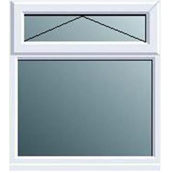 Frame One PVCu Top Hung over Fixed Lite Window 1120 x 905 mm