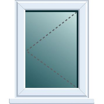 Frame One PVCu LH Side Hung Window 820 x 620 mm