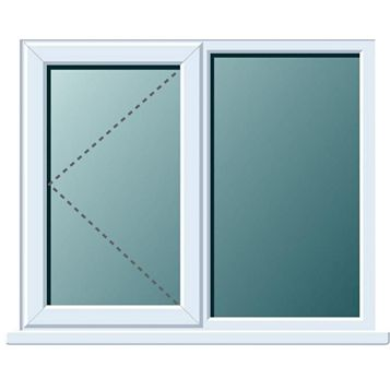 Frame One PVCu LH Side Hung with Fixed Lite Window 970 x 905 mm