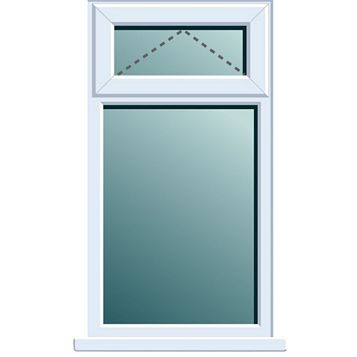 Frame One PVCu Top Hung over Fixed Lite Window 820 x 620 mm