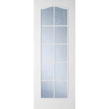 2 Panel Arched Primed Glazed Internal Door, (H)1981mm (W)686mm