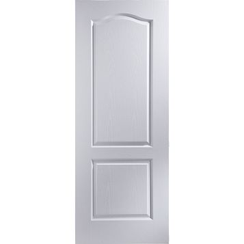 2 Panel Arched Pre-Painted White Internal Door, (H)1981mm (W)686mm