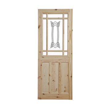 2 Panel Knotty Pine Internal Door, (H)1981mm (W)686mm