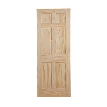 6 Panel Clear Pine Internal Door, (H)1981mm (W)838mm