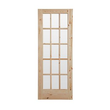 15 Lite Knotty Pine Internal Door, (H)1981mm (W)762mm