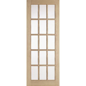 15 Lite Knotty Pine Internal Door, (H)1981mm (W)686mm