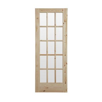 15 Lite Knotty Pine Internal Door, (H)2032mm (W)813mm