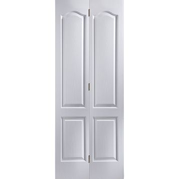 4 Panel Primed Woodgrain Effect Internal Bi-Fold Door, (H)1950mm (W)595mm