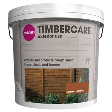 Colours Shed & Fence Stain Golden Chestnut, 5L