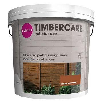 Colours Timbercare Golden Chestnut Satin Shed & Fence Stain 9000ml
