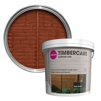 Colours Timbercare Dark Brown Shed & Fence Stain 9000ml