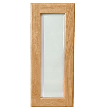 Cooke & Lewis Chesterton Solid Oak Classic Glazed Door (W)300mm