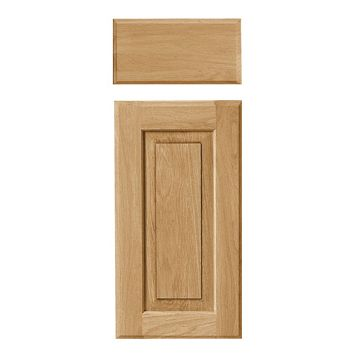Cooke & Lewis Chesterton Solid Oak Classic Drawerline Door & Drawer Front (W)300mm, Set of 1 Door & 1 Drawer Pack
