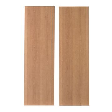 IT Kitchens Sandford Cherry Effect Modern Larder Door (W)300mm, Set of 2