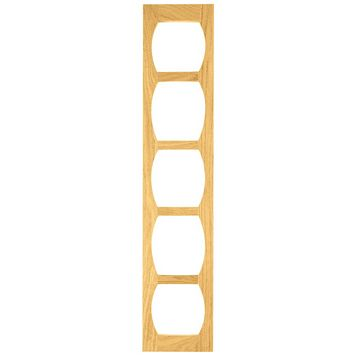 Cooke & Lewis Oak Effect Classic Wine Rack Frame, 150 x 22 x 720mm